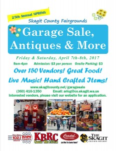 2017 Spring Garage Sale Flyer
